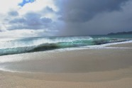The sand, sea and sky were an amazing colour contrast