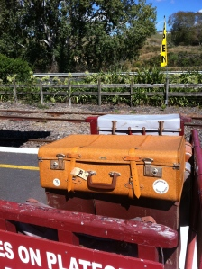 Old suitcases give the feeling of time past at the Waikino Station