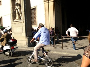 People watching in Florence