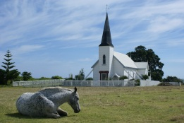 The horse, the church the sky - all were obliging