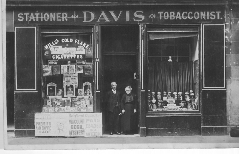A shop in Glasgow run by Ruth's great grandparents