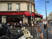 One of the many cafes in our temporary Paris neighbourhood of Marias