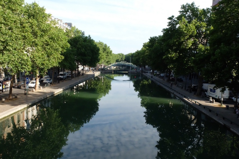 The St Martin canal provided a visitor free look at Paris during the morning commute.