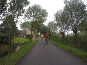 One of the many cycle paths in The Netherlands