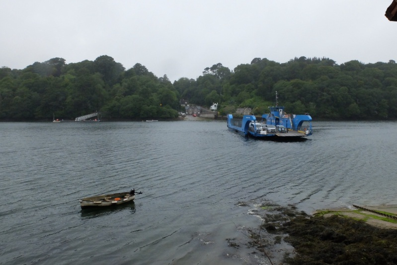 The King Harry (do they know something?) chain ferry took us across the Fal river - very pretty area.