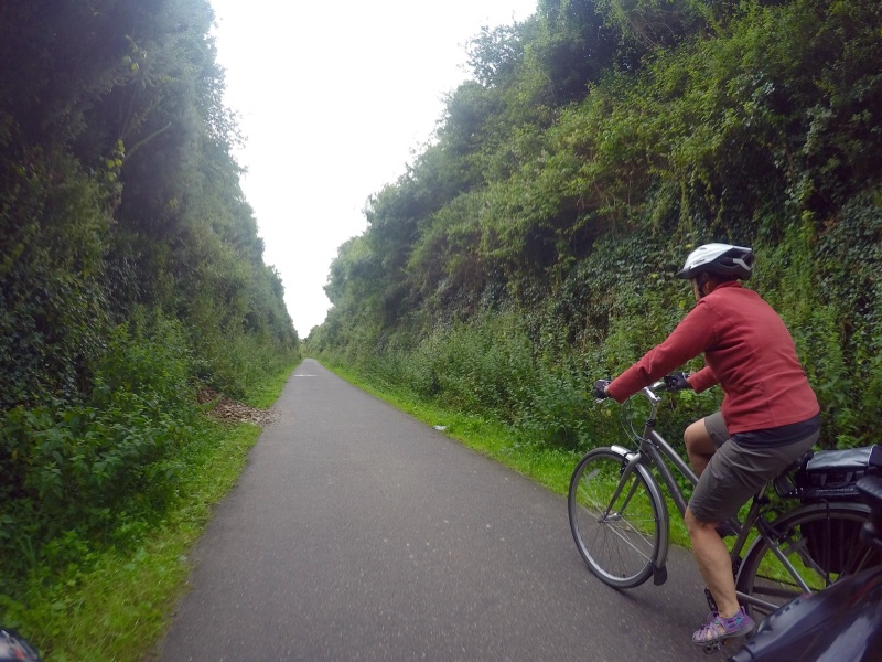 Ruth set a blistering pace on the last leg of the cornwall Ride