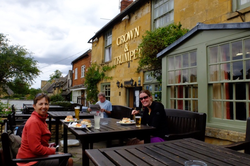 A ploughmans lunch at the Crown and Trumpet in Broadway