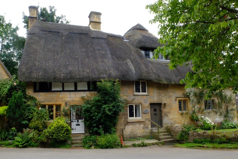 The honey coloured Cotswold Stone is the dominant building material