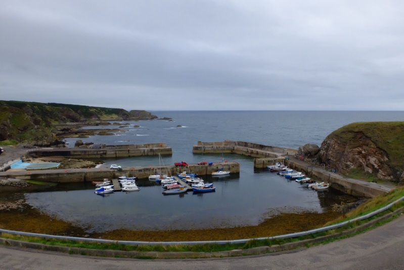 Each town has a harbour, Portknockie also had a swimming pool (left)