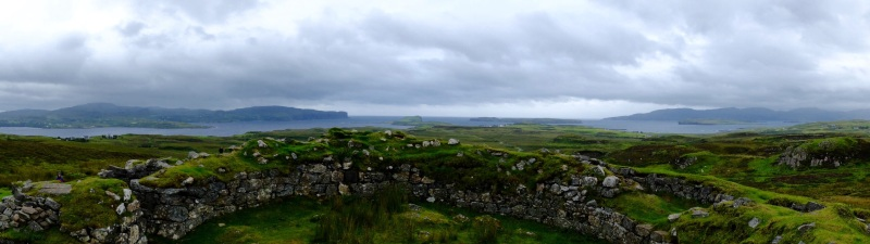 As in Ireland, the early Scots built round houses (Brochs) which housed family and livestock.
