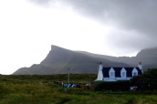 Hopeful locals try to dry their laundry in the far north of Skye. It was bleak but spectacular