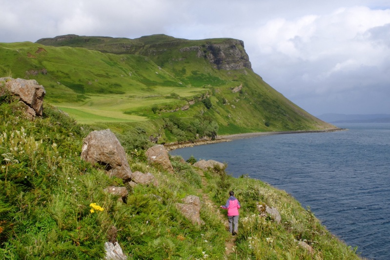 A short but very muddy walk we took from our BnB at Portree on Skye