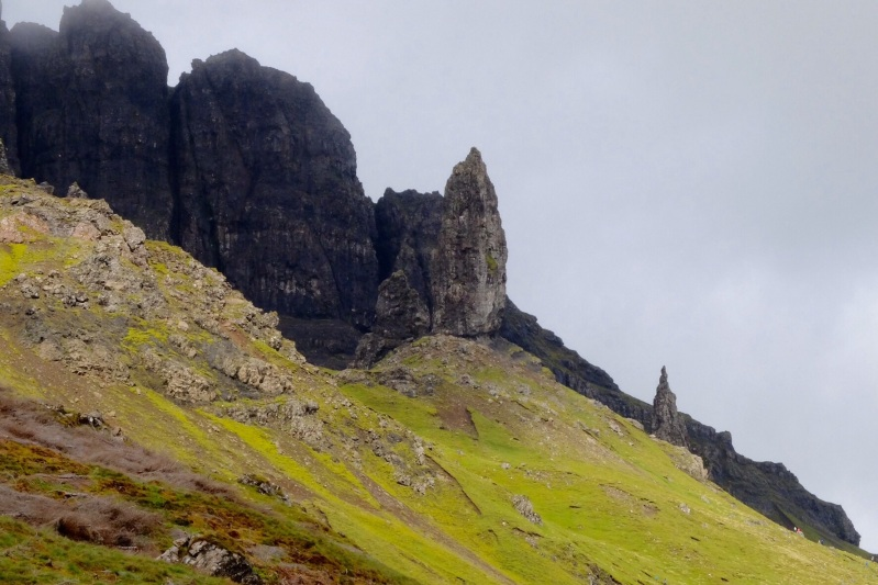The Trottenish Peninsula on Skye has slipped and eroded to create a other worldly landscape. This one was called 'the old man of storr'