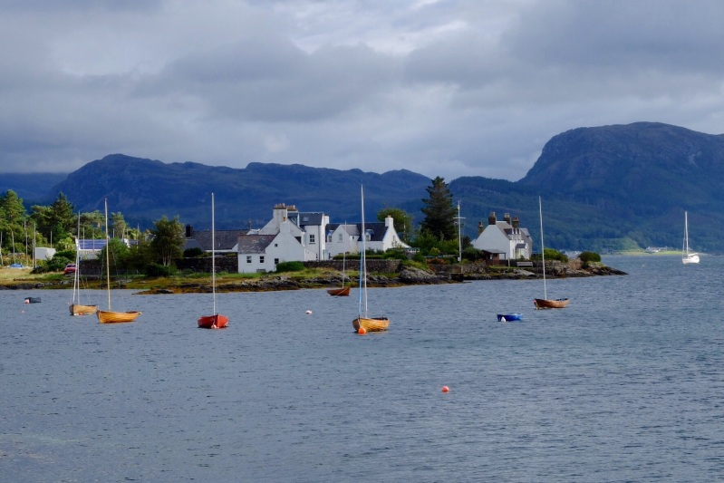 Wooden yachts in Plockton Harbour