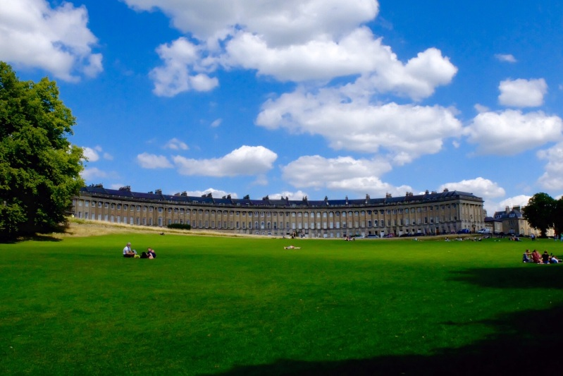 The trail took the scenic route through bath, the Royal Crescent built in the 18th century