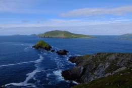 Slee Head with the Blasket Islands in the bacground. The most westerly part of Europe, it was too cloudy to see the Statue of Liberty in the distance.