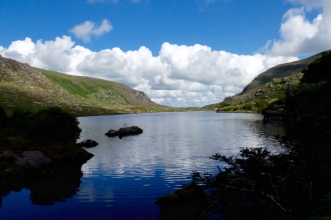Walking the Dunloe Gap in Killarney Ireland