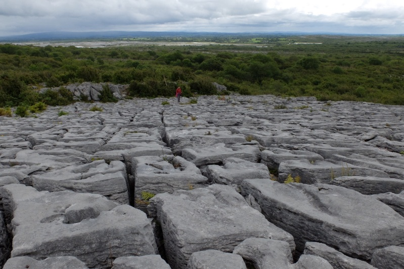 On the Burren, the figure of Ruth in the background gives perspective.