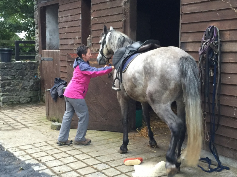 This horse knows how to get its way with Ruth.