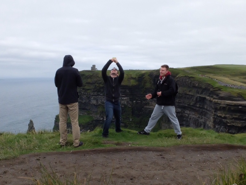 Selfie Madness at the Cliffs of Moher