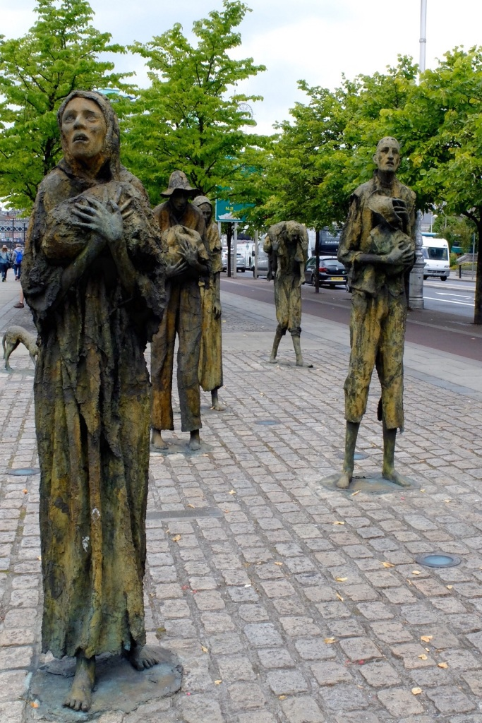 A very moving scupture remembering the Famine - this one was beside the river Liffey in Dublin