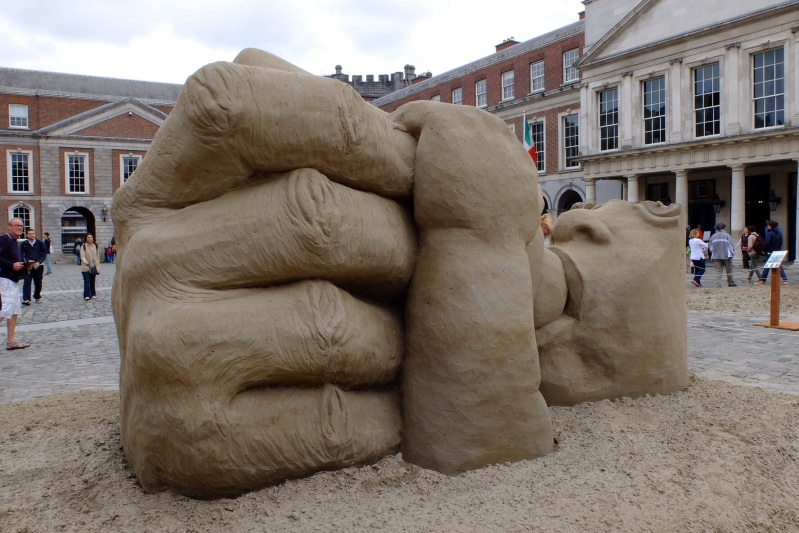 Some huge and amazing sand sculpture in Dublin Castle
