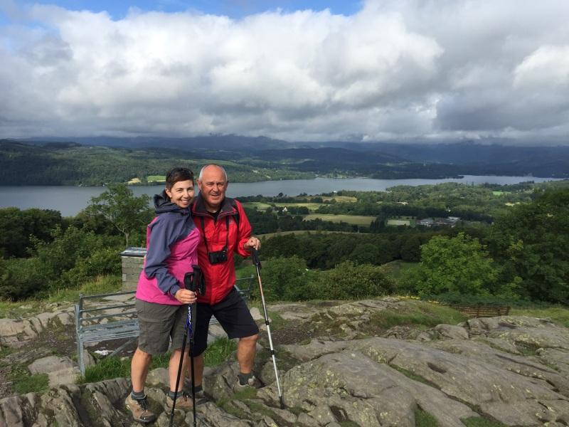 Yuk, a posed photo above Lake Windermere and a rare outing for the shorts