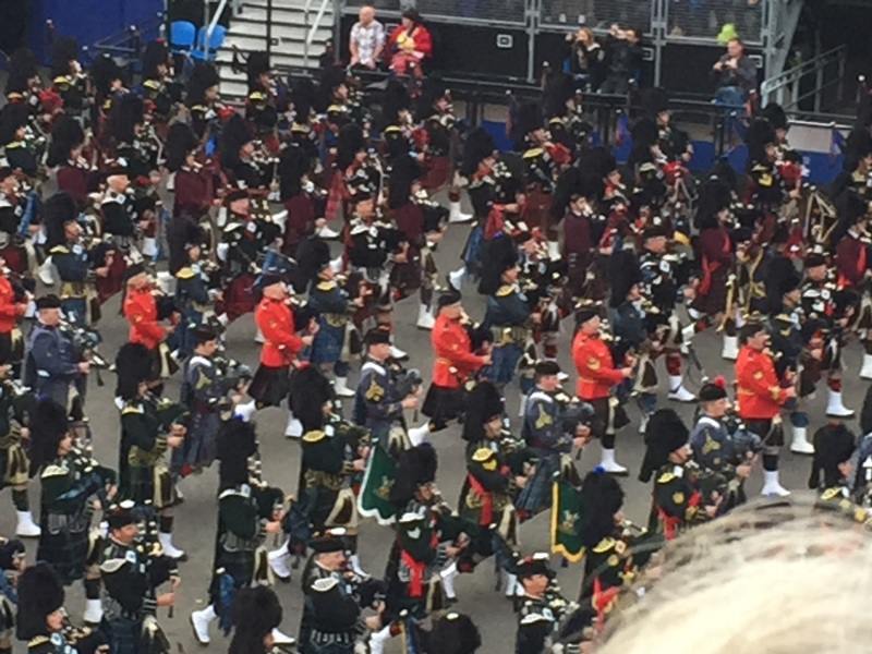 pipe bands, castles, the Tattoo was concentrated Scotland with a little Chinese and Indian thrown in.