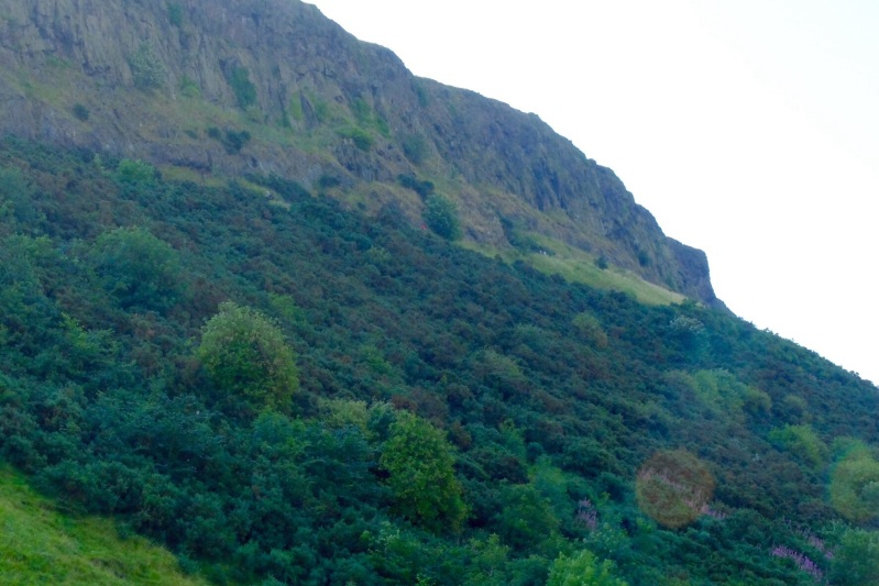 The Salisbury Crags close to the city were my escape from shop browsing with Ruth