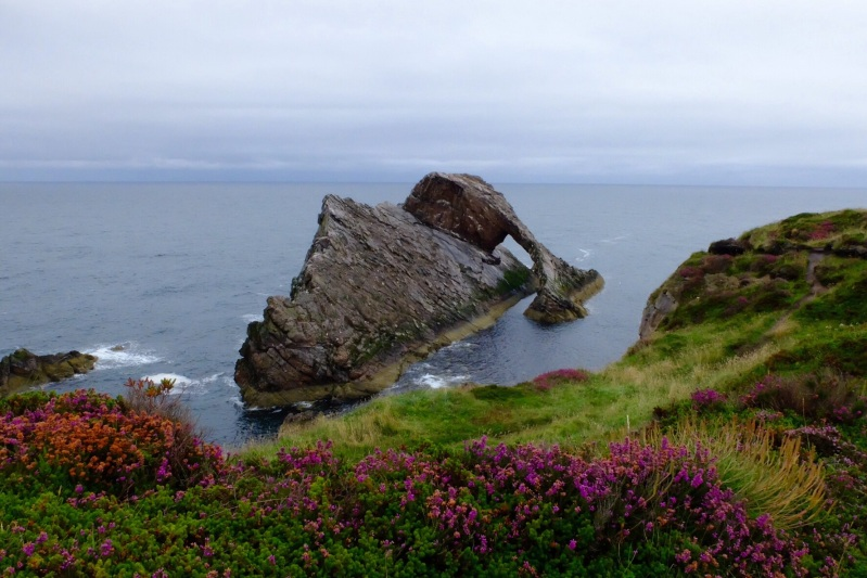 Bow Fiddle rock near Portknockie was a great example of the coastline in Moray