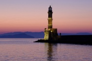 The 16th century lighthouse at the entrance to the harbour - honestly no touching up on this image