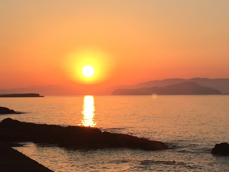 Sunset on the first night in Chania:Photo credit Ruth usingiPhone
