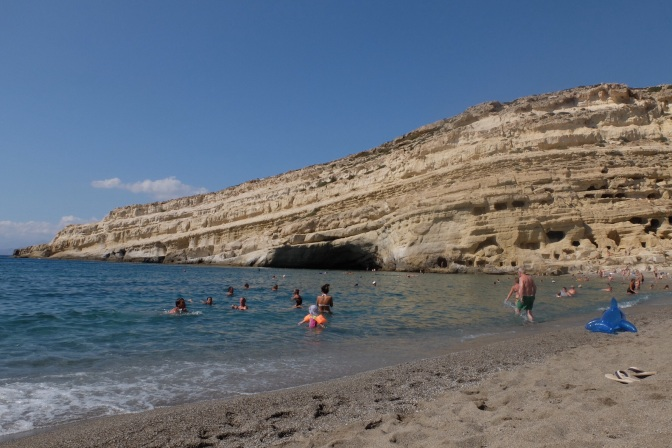 We have not been to a lot of beaches, but this one had man made caves in the cliffs, it was also a hippie hangout in the sixties, still has a very sixties and laid back feel to it. Matala