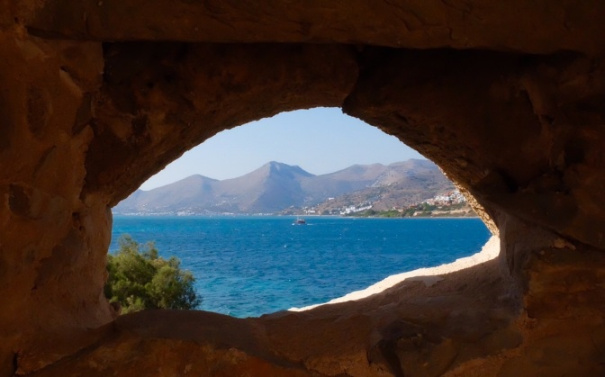The defenders view from Spinalonga fortress
