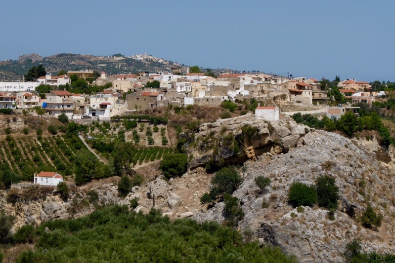 "The Village in the foreground (Venerato) had our ""local"" market and bakery. About 1km from Siva. The hilltop village in the background (Agios Mironas) has some pleasant tavernas overlooking the valley below, we are walking up there for lunch on Saturday."