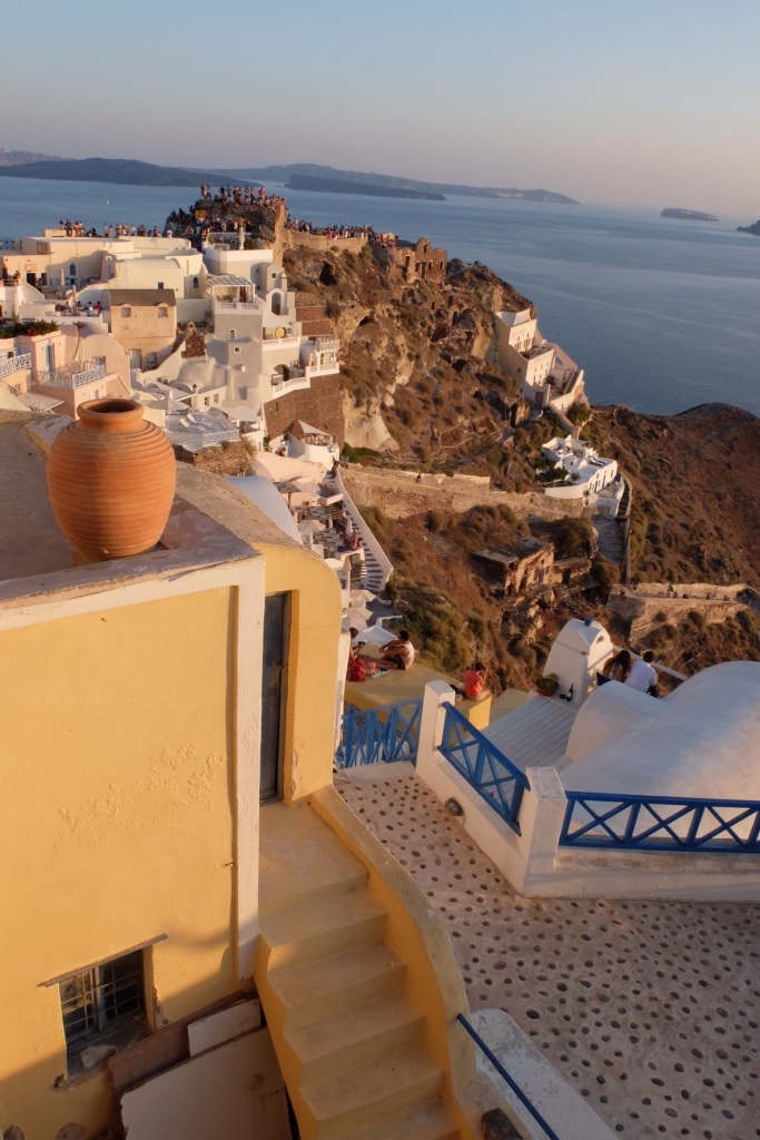 The best part of the famous Santorini sunset was the effect it had on the Island