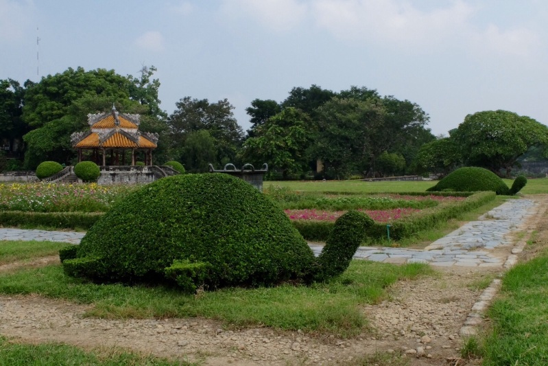 There were four bushes shaped as turtles that formed part of this garden in the Purple Forbidden City in Hue, the imperial residence modelled on the Forbidden City in Beijing