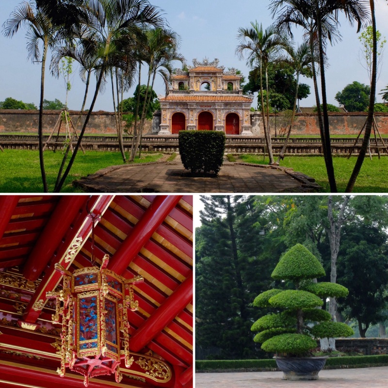 Images from Hue. We learnt that monarchies are the same the world over, lavish spending on image, the Emperor in Vietnam was considered to be the living embodiment of Heaven on Earth.