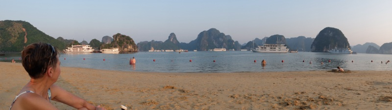 The beach at Ti Top Island in Halong Bay