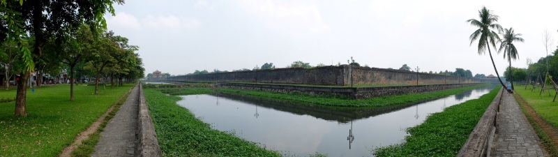 A wander around the outside of the old Imperial city in Hue was a pleasant and interesting stroll.