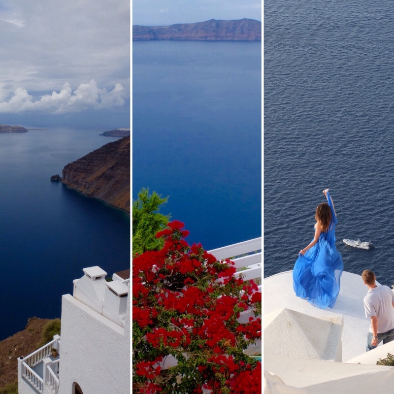 "A little experiment using some of my Santorini pictures and the Instagram ""Layout"" app."