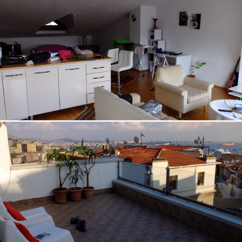 Our airbnb utilises loft space at the top of an apartment building, one bedroom with a very roomy lounge / kitchen and a very spacious deck with views. Very well appointed foir the price (less than half of what we have paid in most other large cities).