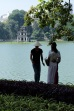 As with every other destination Hanoi had it's spot for wedding pictures - Lake Hoan Kiem in the centre of the city was a picture perfect spot