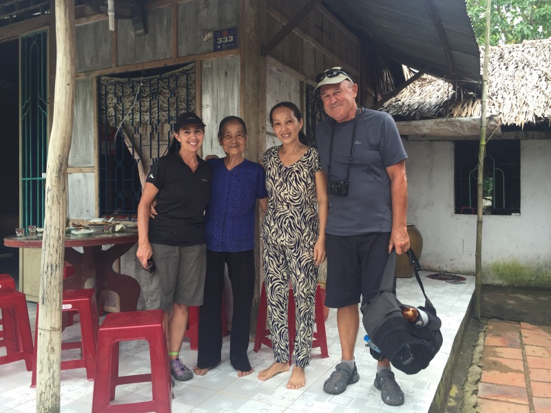 No I have not gained a few inches in height. The 77 year old had just cooked us rice paper which we enjoyed both in its