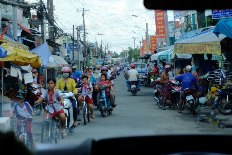 Driving in the Mekong Delta was a slow process, we probably averaged 30-40km an hours, the roads were narrow, rough and chocked wiith motorcycle and bicycle traffic