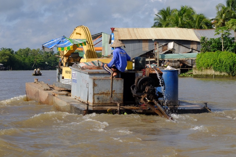 A local earthmoving contractor on the Mekong.