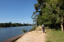 We biked both along the moats at Angkor Wat and Angkor Thom, the latter is 12km. At least we were not the poor souls who had to dig them by hand.