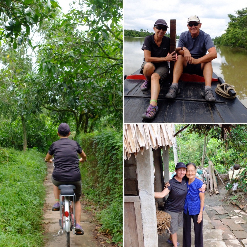 We got to meet the locals, bike along some pretty interesting tracks and enjoys some of the tastes of the Mekong Delta.