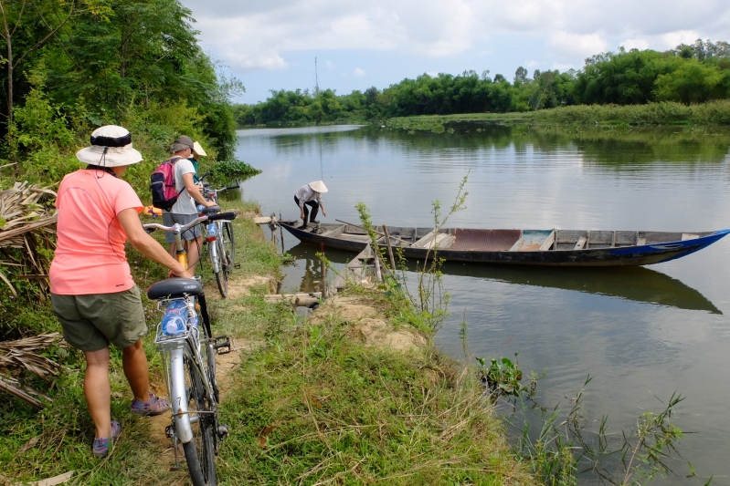 This is one of the more interesting bike ferries that we have encountered. Hoi An, Vietnam