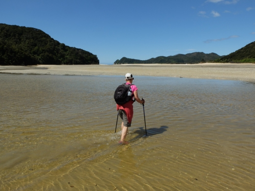 River crossing near Awaroa on Abel Tasman track
